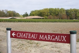 Roadsign of Chateau Margaux